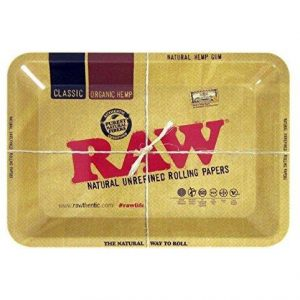 Raw Metal Rolling Tray Mini 7 x 5 Inch