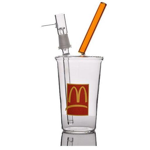 McDonalds Cup Dab Rig with Downstem