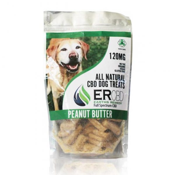 CBD DOG TREATS PEANUT BUTTER 120MG by Earth Remedies