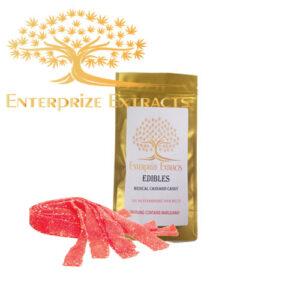 Strawberry Sour Belts by Enterprize Edibles