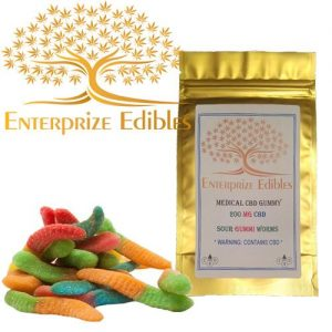 3x $40 -- 200mg CBD Gummy Worms by Enterprize Edibles