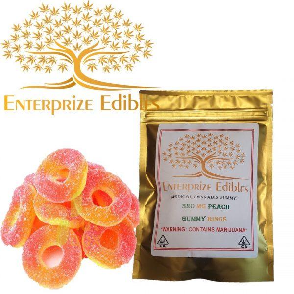 3x/$40 -- 320mg Peach Rings by Enterprize Edibles