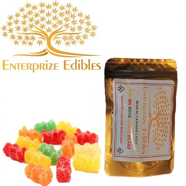 3x/$40 -- 320mg Sour Gummy Bears by Enterprize Edibles