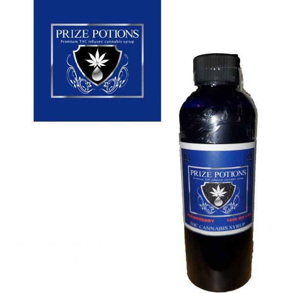 STRAWBERRY - THC Infused Cannabis Syrup by Prize Potions