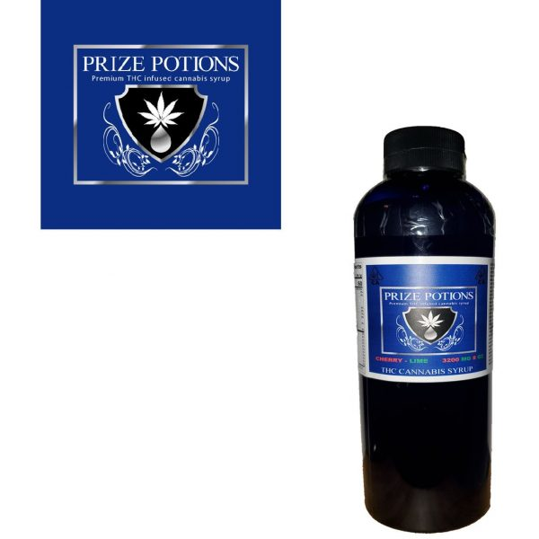 CHERRY LIME - THC INFUSED CANNABIS SYRUP BY PRIZE POTIONS