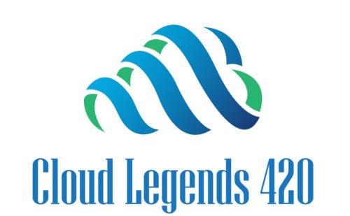 Cloud Legends 420 Logo in white